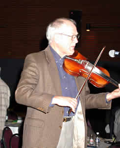 Celtic Fiddler Wally Nash playing during Synod Coffee Break will entertain throughout all the proceedings