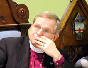 Bishop contemplating the diocesan vision